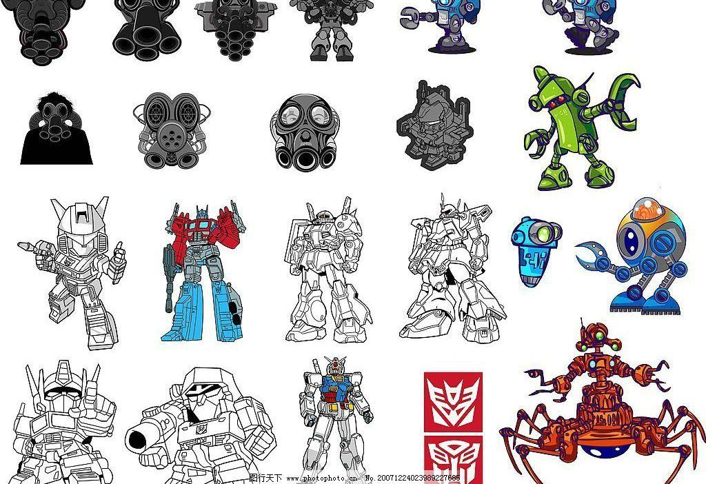 机器人 变形金刚 矢量人物 其他人物 矢量图库