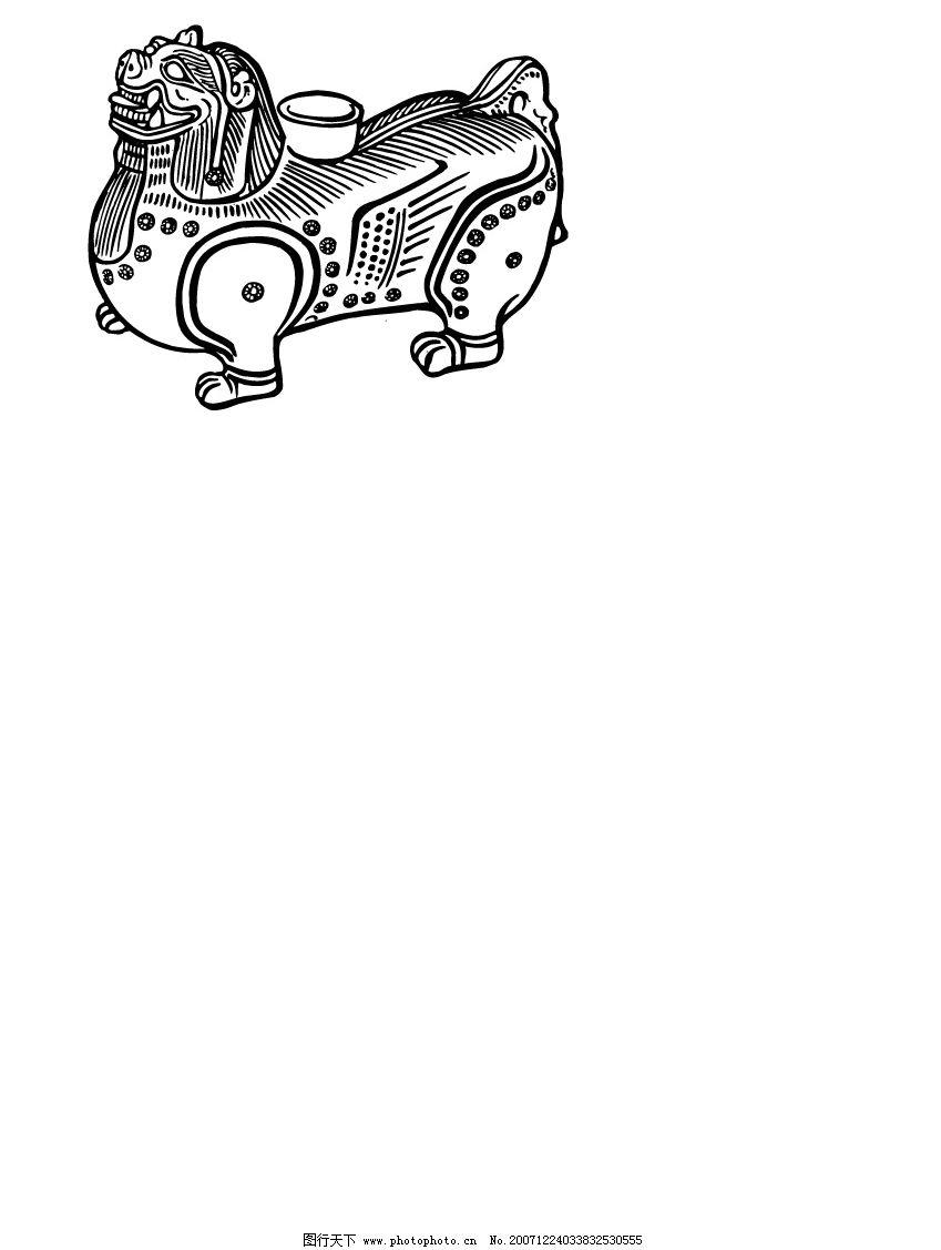 石狮子 黑白 矢量图 其他矢量 矢量素材 矢量图形 矢量图库