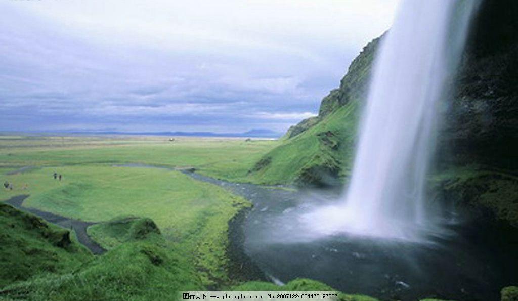 瀑布与水源 自然景观 山水风景 摄影图库 72 jpg