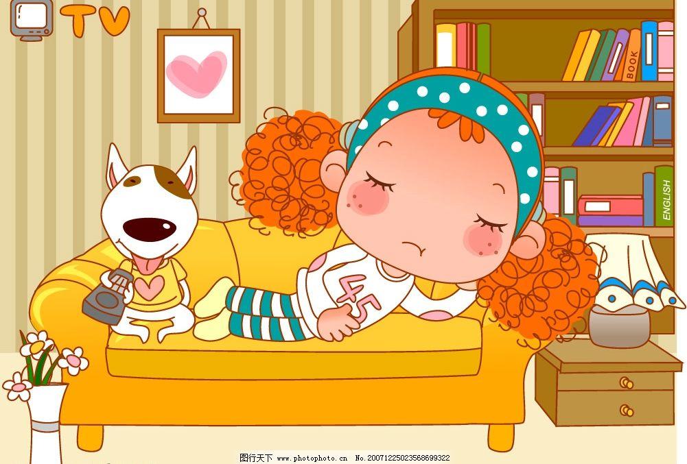 卷发小甜心17 卷发小甜心 卡通 动漫 矢量素材 可爱小女孩 矢量人物