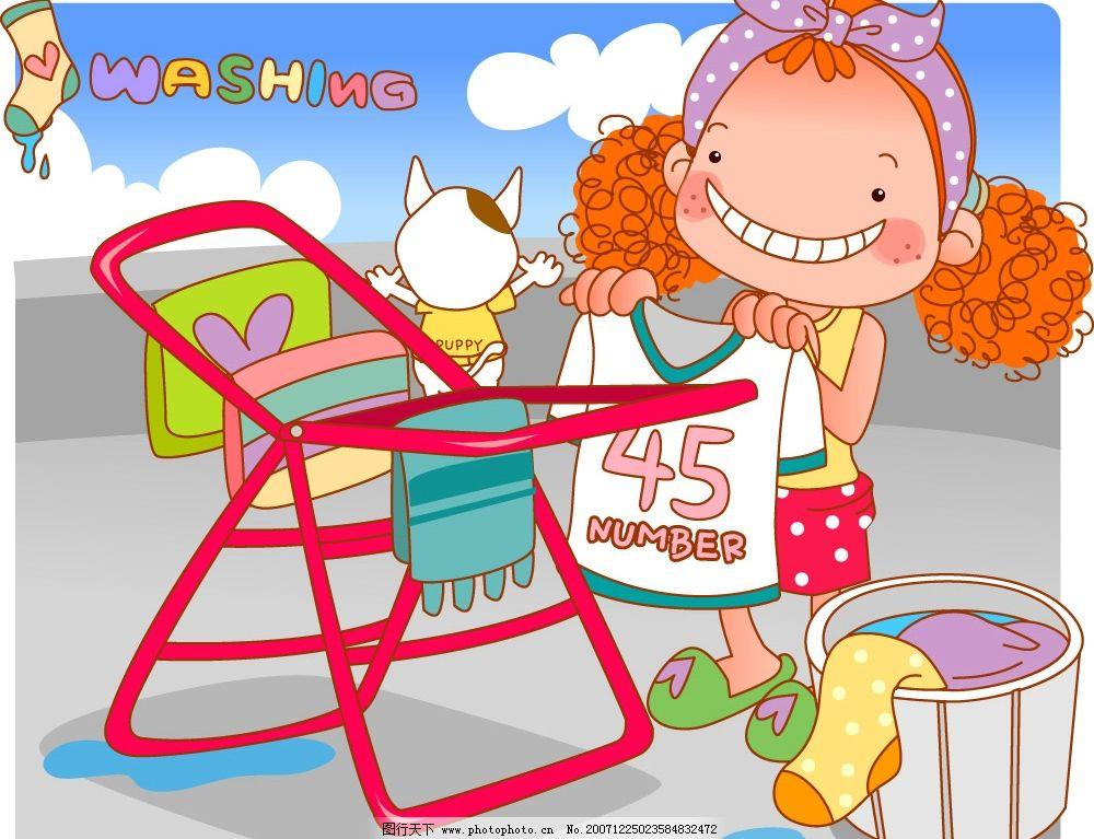 卷发小甜心12 卷发小甜心 卡通 动漫 矢量素材 可爱小女孩 矢量人物