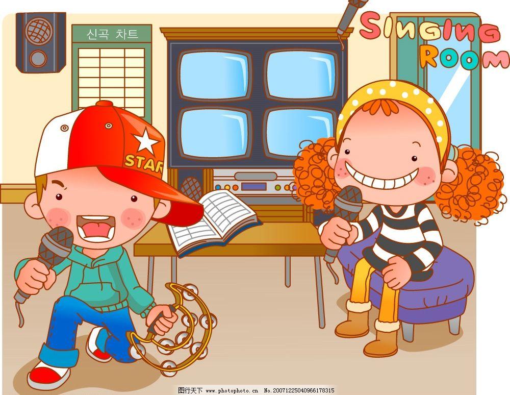 卷发小甜心25 卡通 动漫 矢量素材 可爱小女孩 矢量人物 儿童幼儿