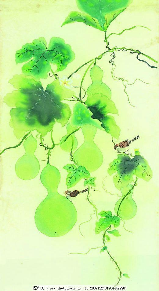 葫芦树叶简笔画