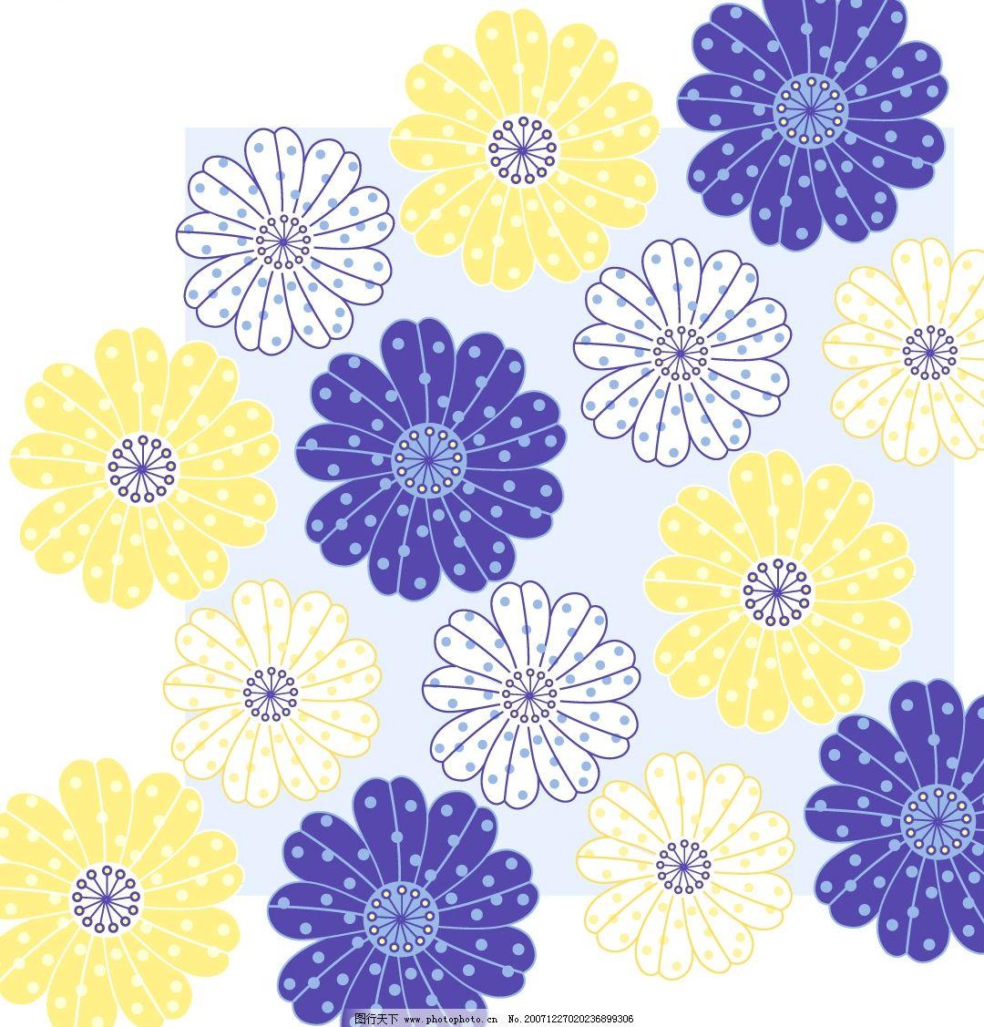 韩国花纹底纹素材矢量图图片