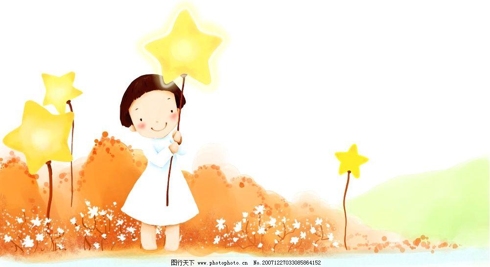 童话里的小女孩 韩国矢量图 psd素材 童话 源文件库   psd
