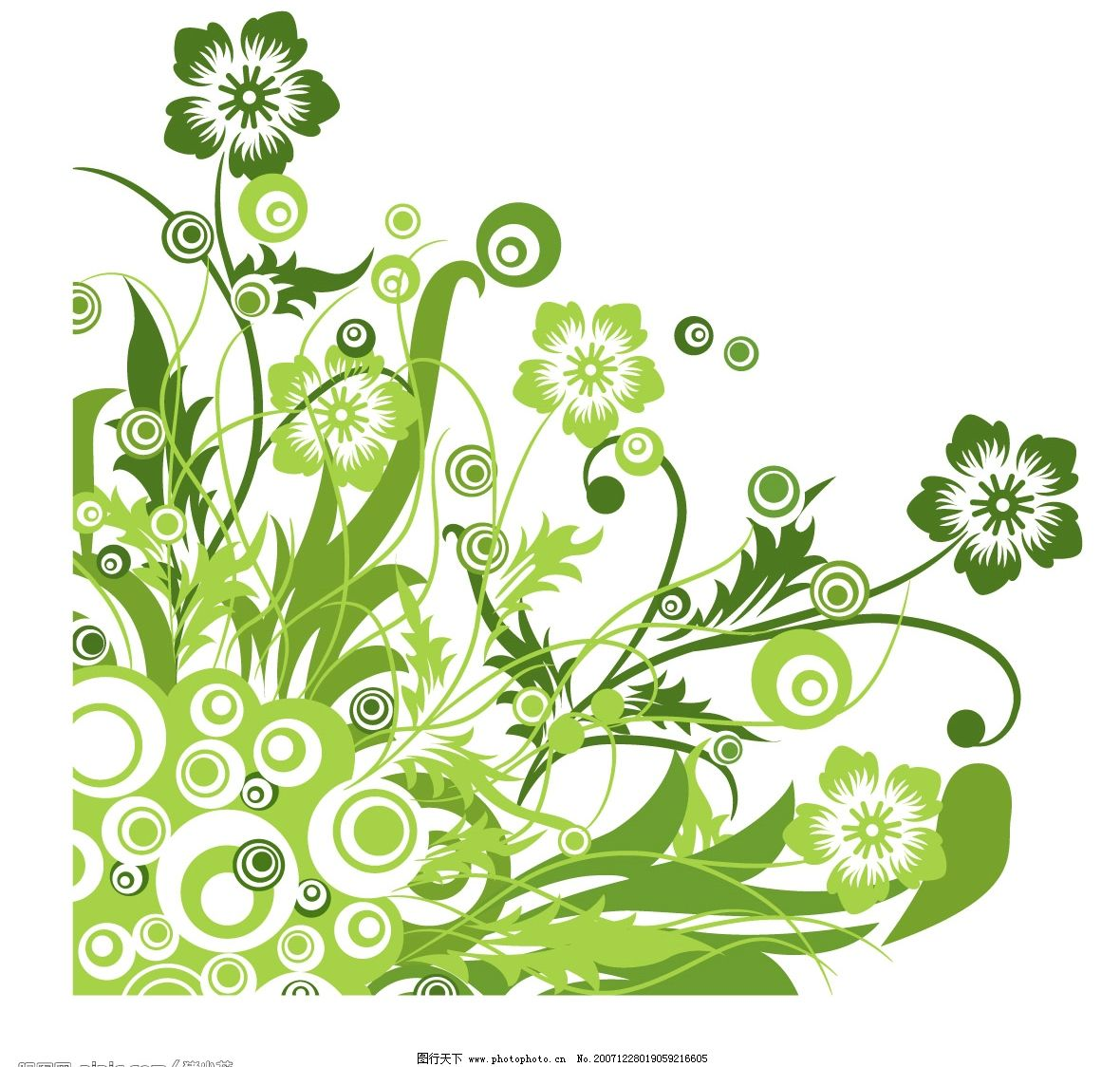 绿色 花纹 设计 素材图片