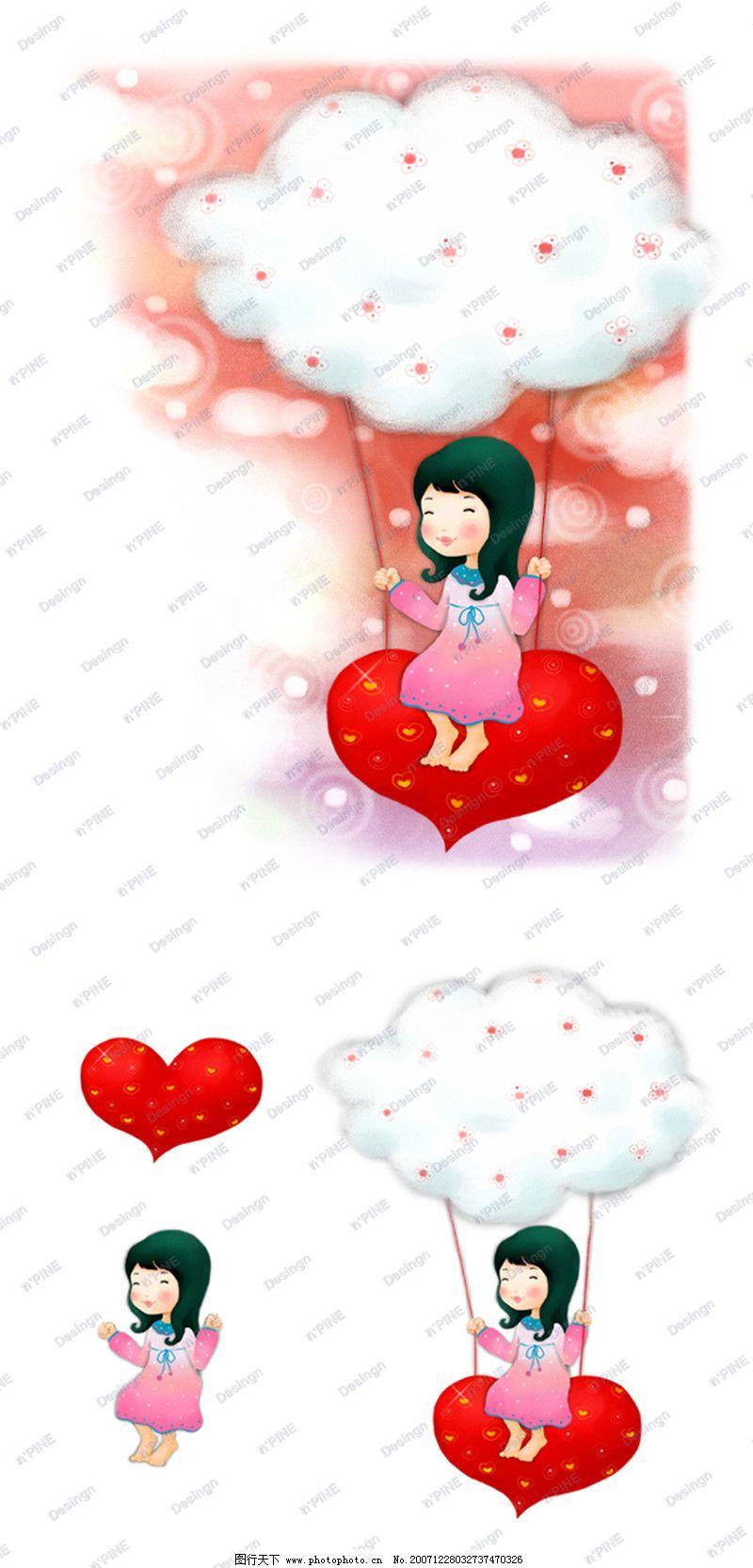 可爱小仙子0115 彩绘人物情景模板篇