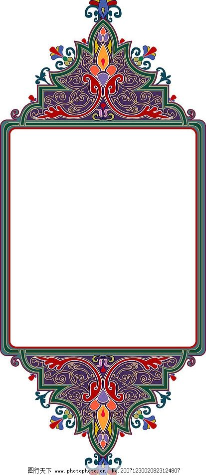 民族图案 底纹边框 其他 矢量图库   ai