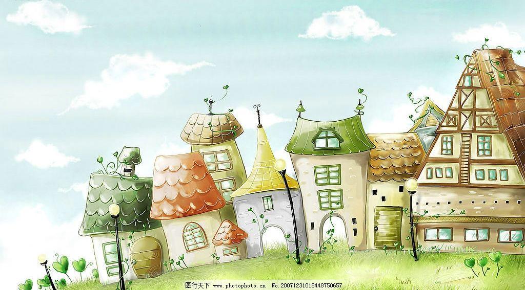 小房子 手绘 其他 图片素材 摄影图库 300 jpg