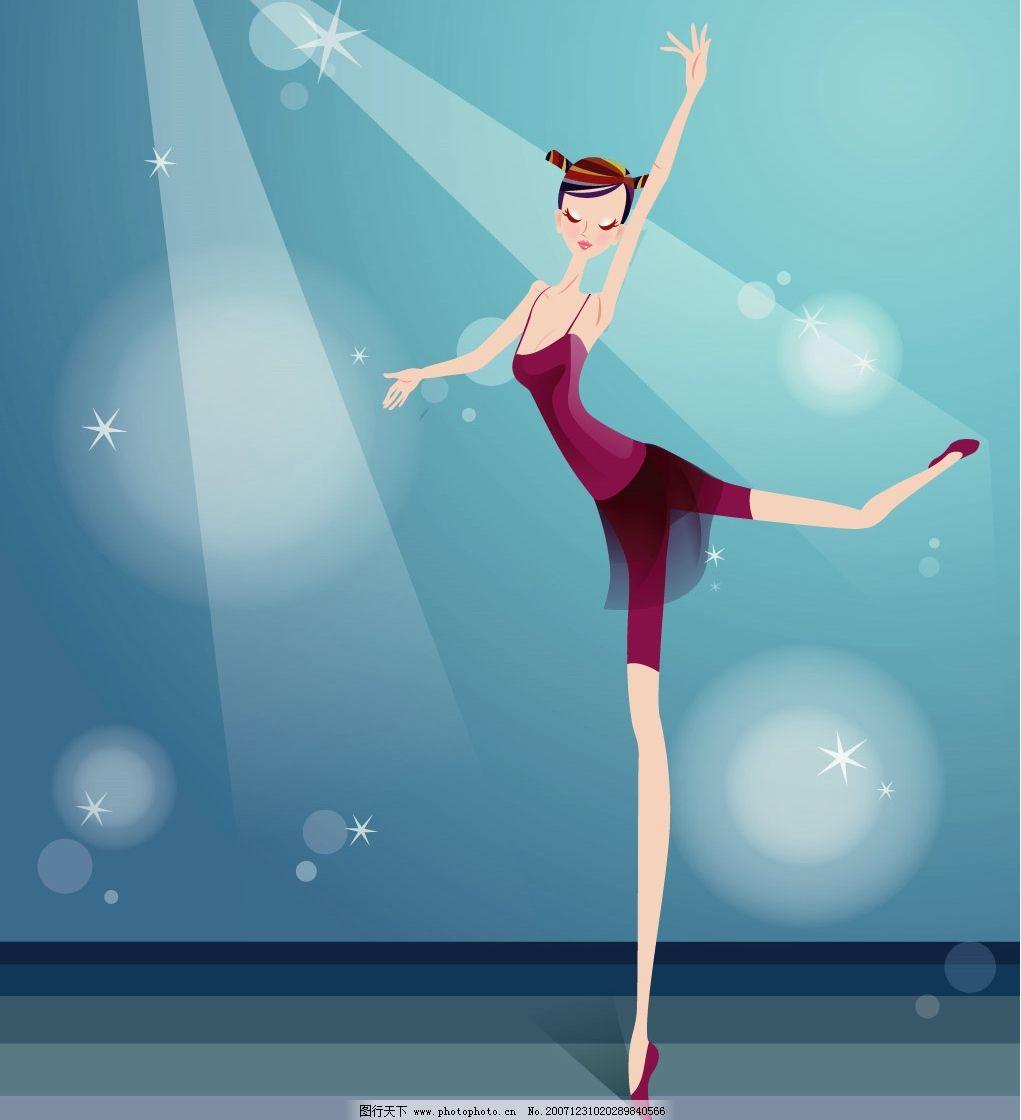 芭蕾 底纹边框 底纹背景 矢量图库   ai