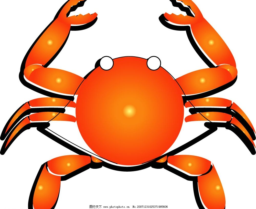 螃蟹 一个方向走的动物 生物世界 海洋生物 矢量图库   ai