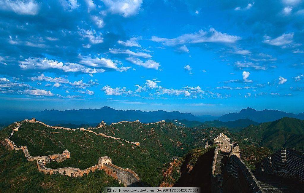 万里长城 北京 八达岭 人文 名胜 风景 旅游摄影 人文景观 摄影图库